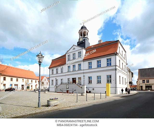Bad Düben, Saxony, city hall on the marketplace