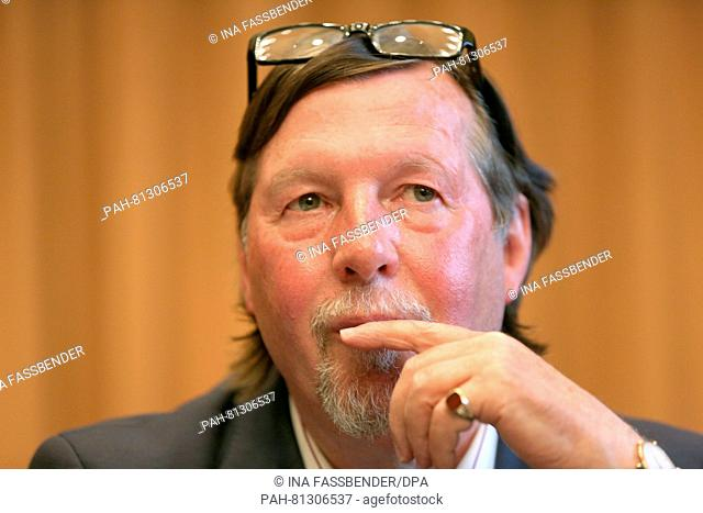 Christoph Heubner, Executive Vice President of the International Auschwitz Committee, during a press conference at the regional court in Detmold, Germany