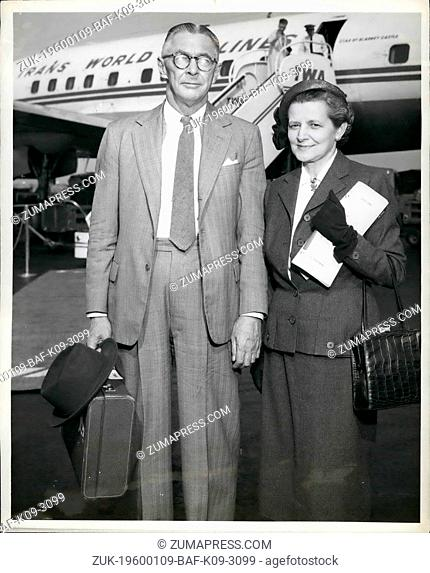 1968 - Idlewild Airport,N.Y., May 6 --Donald Bliss, newly-appointed U.S. Ambassador to Ethiopia and his wife are shown as they boarded a TWA ambassador flight...