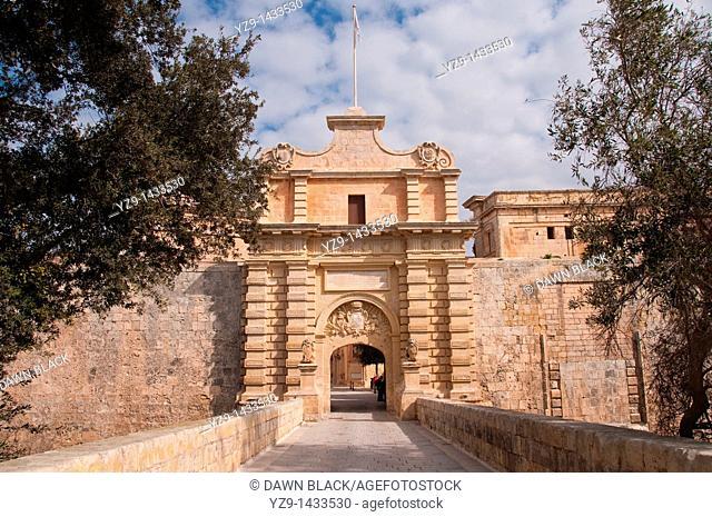 The Main Gateway to Mdina, Malta