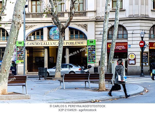 Rambla of Poblenou, Barcelona, Catalonia, Spain