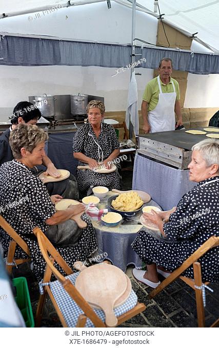 artisans developed 'Talo' corn cakes  Big Week Donostiarra  Donostia San Sebastian  Basque Country  Spain  European Capital of Culture 2016