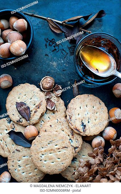 Cookies, nuts, and honey