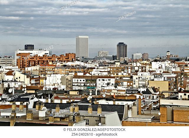 Panoramic View, Picasso Tower, Madrid, Spain