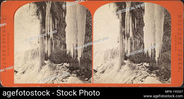 Below Table Rock, winter. Additional title: Niagara scenery. Curtis, George E. (d. 1910) (Photographer). Robert N. Dennis collection of stereoscopic views...