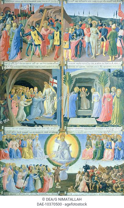 Armadio degli Argenti (Silver Chest) with the life of Jesus, 1451-1453, by Giovanni da Fiesole known as Fra Angelico (1400-ca 1455), tempera on wood