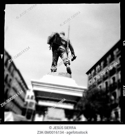 Eloy Gonzalo sculpture. Cascorro. Lavapies square. Madrid. Spain