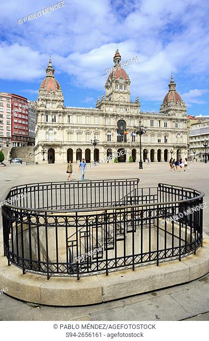 City Hall in Maria Pita square, A Coruña, Spain