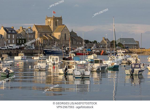 Barfleur harbour. Normandy, France