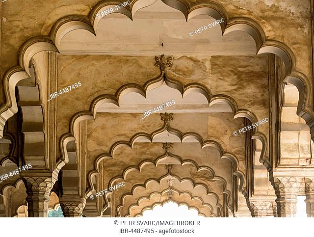 Hall of Public Audience, Diwan-I-Am, Mughal Palace, Agra Fort, Agra, Uttar Pradesh, India