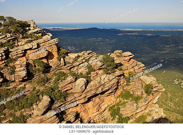 Top of the mountain called El Garbí, Sierra Calderona natural park, Valencia, Spain