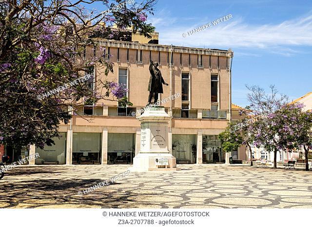 José Estevão statue in Praça da República, Aveiro, Portugal