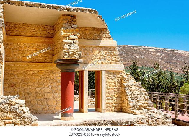 Knossos Palace ruins. Crete, Greece