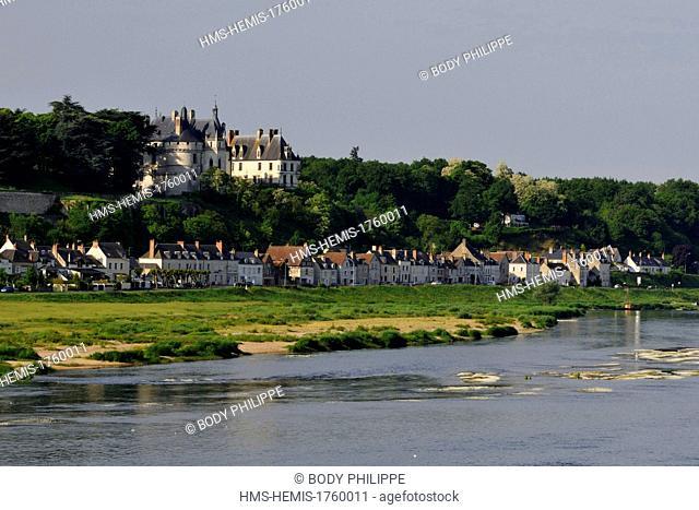 France, Loir et Cher, Chaumont sur Loire, Chateau de Chaumont sur Loire along the Loire river, listed as World Heritage by UNESCO, built in 15th century