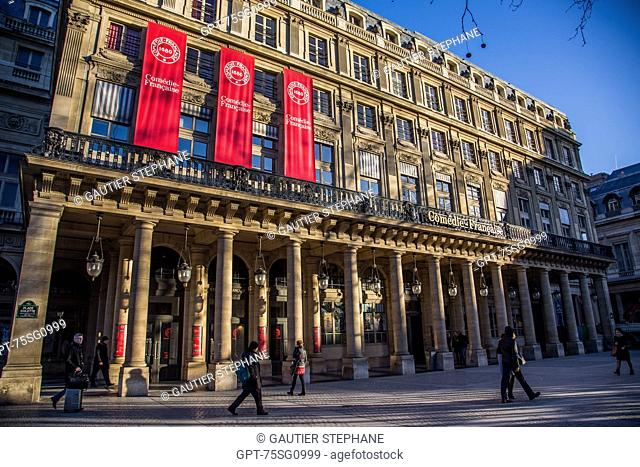 THE COMEDIE FRANCAISE OR THEATRE-FRANCAIS, FOUNDED IN 1680, SITUATED IN THE HEART OF THE PALAIS-ROYAL IN THE 1ST ARRONDISSEMENT, (75) PARIS, ILE-DE-FRANCE