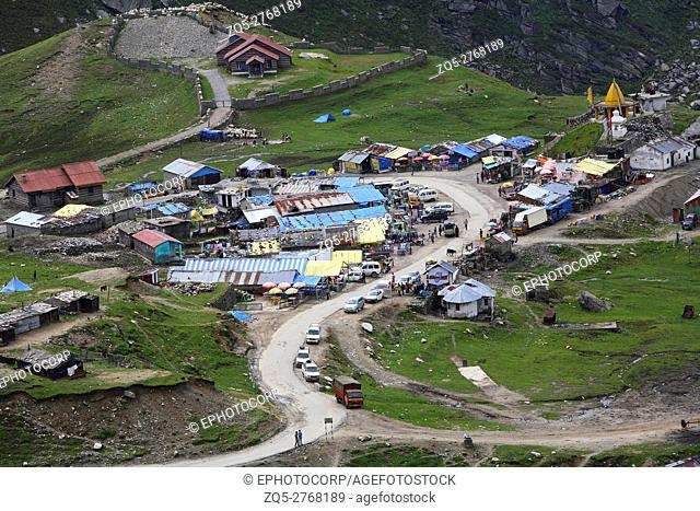 A village Madhi on the way of Rohtang Pass, Himachal Pradesh, India