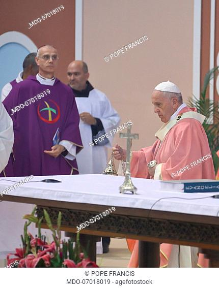 Pope Francis celebrates Holy Mass at Prince Moulay Abdellah's stadium. Rabat (Morocco), March 31th, 2019