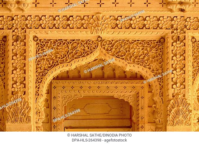 Amar Sagar Jain temple, Lodurva, Jaisalmer, Rajasthan, India, Asia