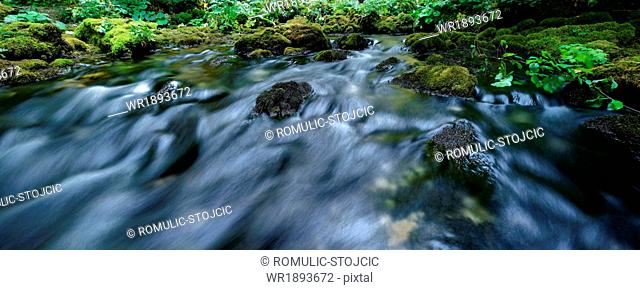 Plitvice Lakes, National Park, flowing water, Croatia