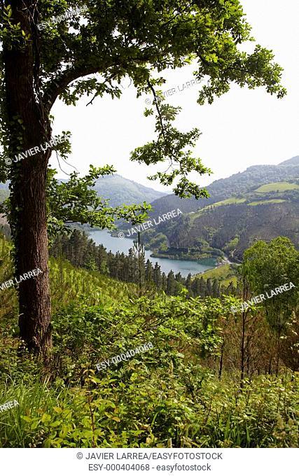 Ibaieder Reservoir, Beizama, Gipuzkoa, Euskadi, Spain