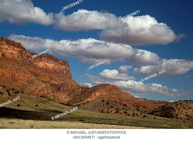 Clouds develop over the Northern Arizona landscape near Vemilion Cliffs National Monument