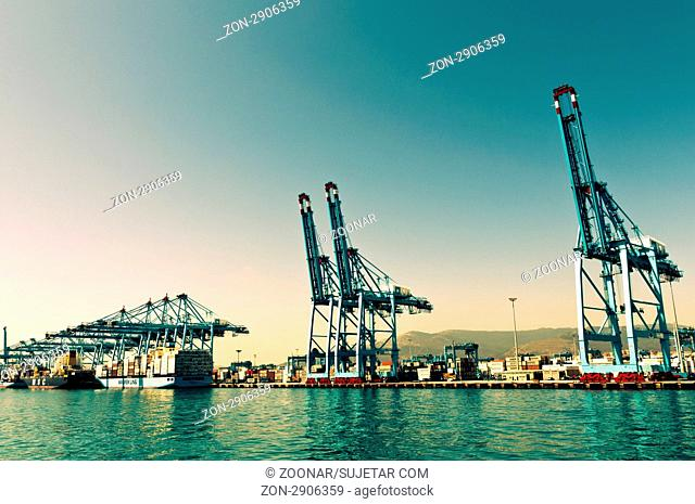 Sea view from the port of Algeciras