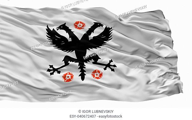 Deinze City Flag, Country Belgium, Isolated On White Background