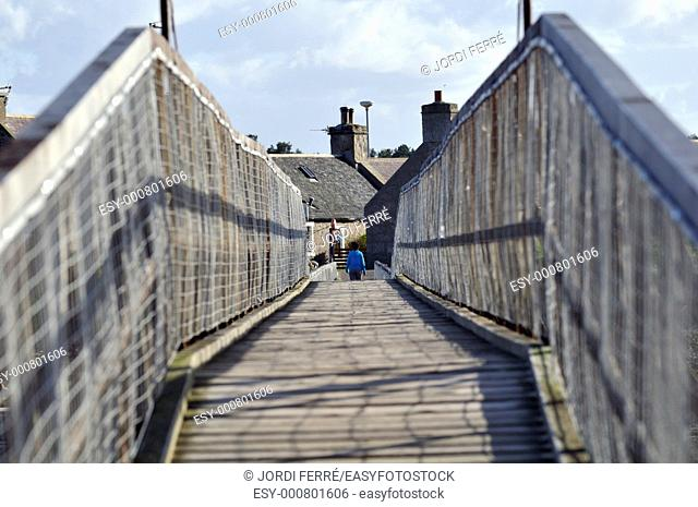Wooden bridge, Lossiemouth, Moray, Scotland, United Kingdom, Europe