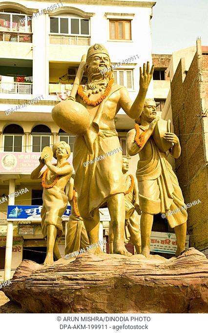 statue kabir das and Saints, varanasi, uttar pradesh, Asia, India