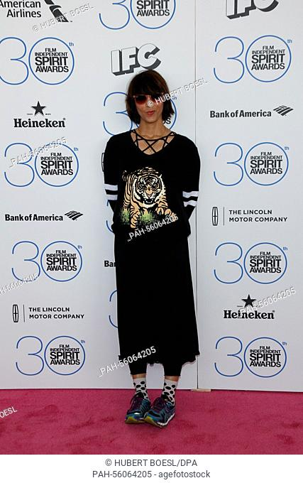 Filmmaker Ana Lily Amirpour arrives at the 30th annual Film Independent Spirit Awards in a tent on Santa Monica Beach in Santa Monica, Los Angeles, USA
