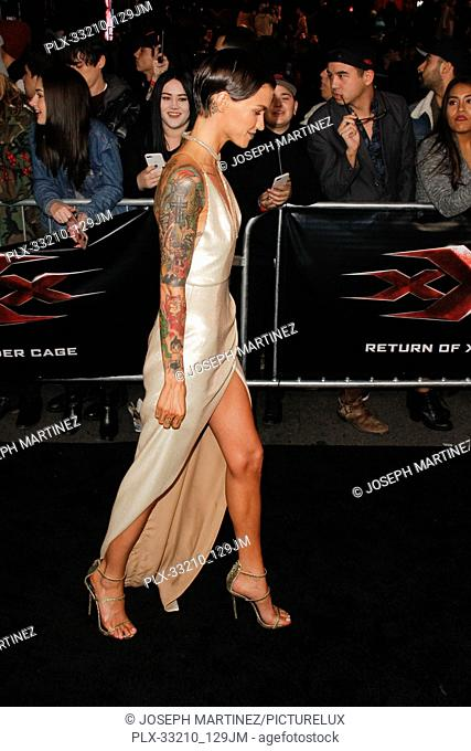 """Ruby Rose at the Premiere of Paramount Pictures' """"""""xXx: Return Of Xander Cage"""""""" held at the TCL Chinese Theater in Hollywood, CA, January 19, 2017"""
