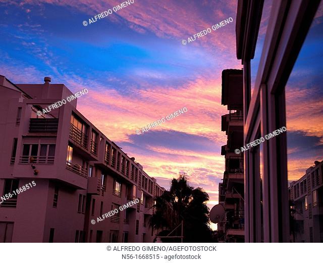 sunset view in Altea, Alicante