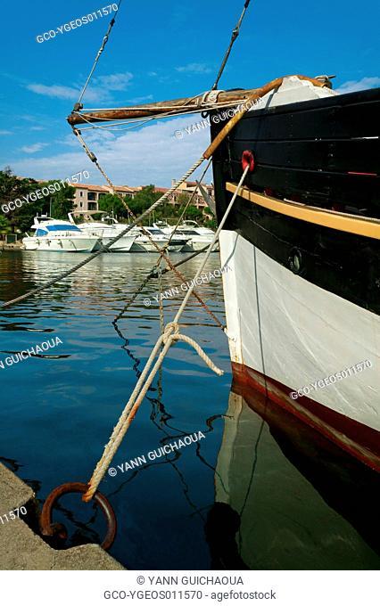 Harbour Of Les Embiers Island, Var, Paca, France