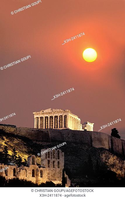 Parthenon, Acropolis, Athens, Attica region, Greece, Southern Europe