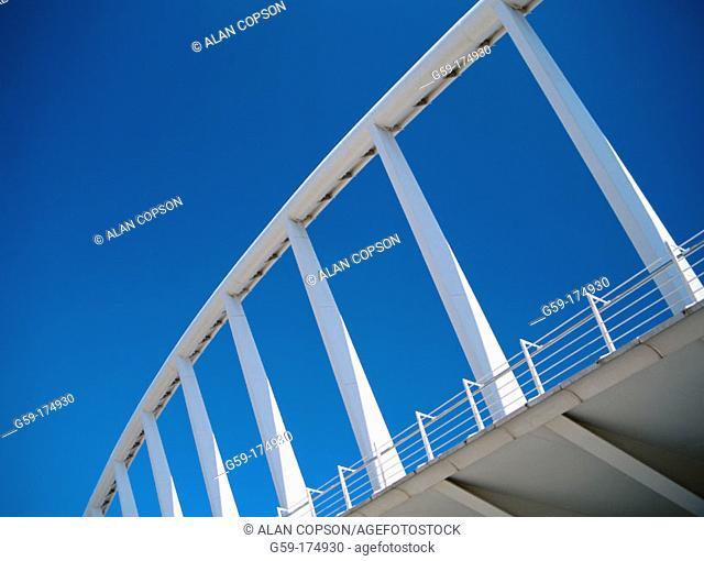 Detail of bridge by Santiago Calatrava. Valencia. Spain