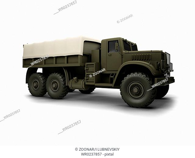 big car on a white background