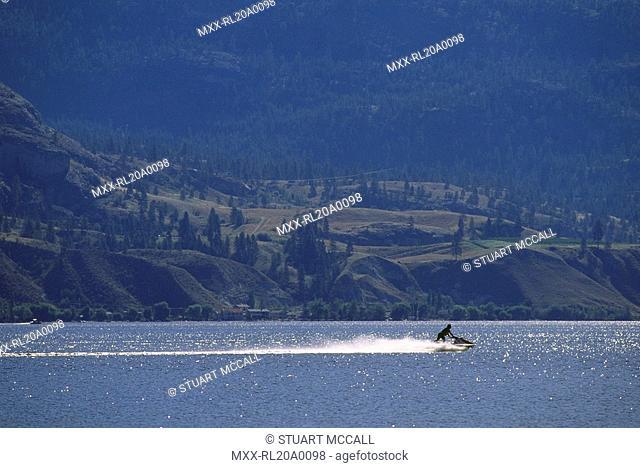 jet ski on Skaha Lake, BC