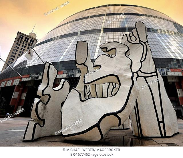 Sculpture, Monument With Standing Beast by Jean Dubuffet, located in front of the James R. Thompson Center, JRTC, State Building