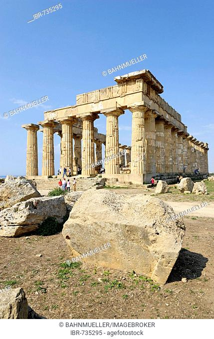 Temple E so-called temple of Hera Selinunte Sicily Italy