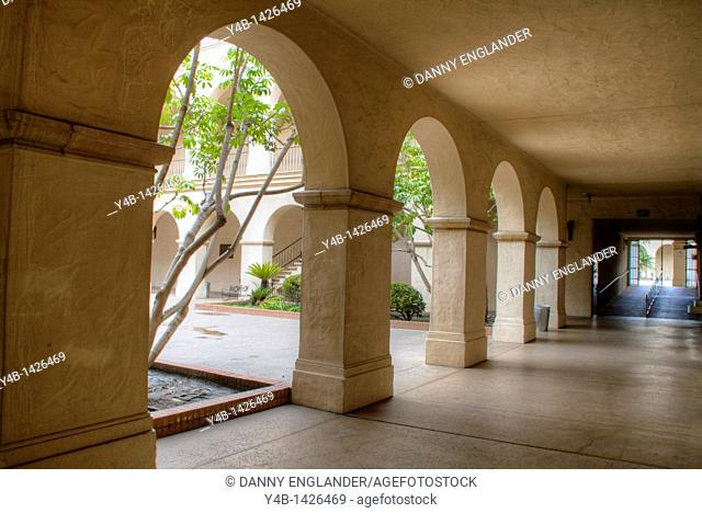 Walkway and Arches at Balboa Park in San Diego, California
