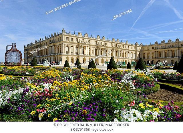 Corps de Logis south side, Chateau de Versailles, UNESCO World Heritage Site, Département Yvelines, Region Ile-de-Francs, France