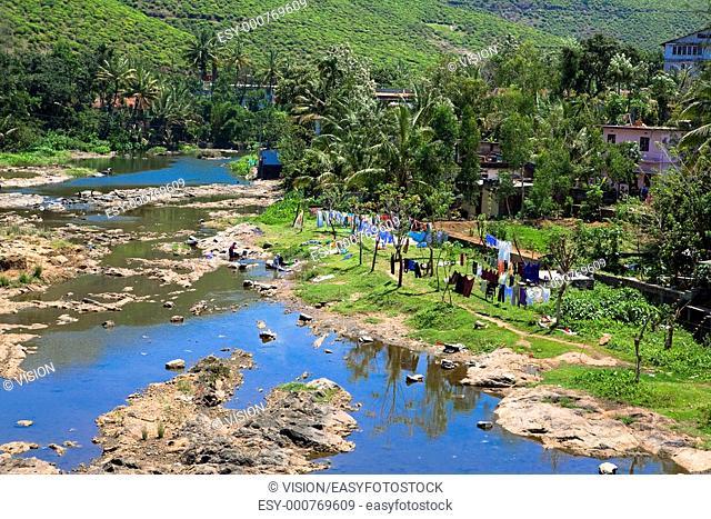 Periyar Countryside River munar in Kerala state india