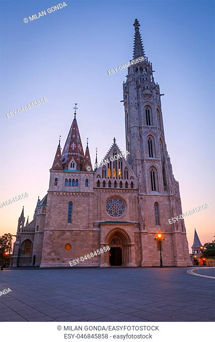 View of Matthias church in historic city centre of Budapest, Hungary.