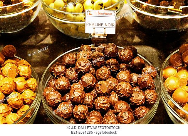 Praline noir Belgium chocolate