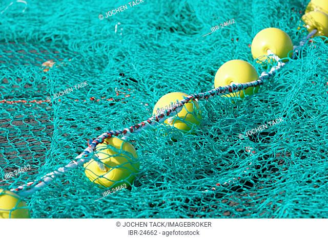 FRA, France, Normandy: fishing nets in the port of Huppain