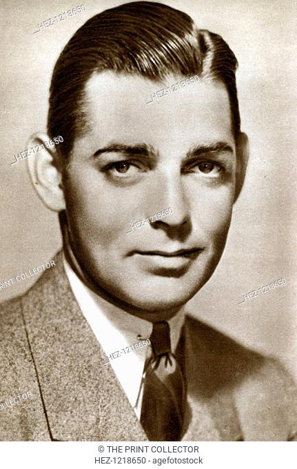 Clark Gable, American actor, 1933. Gable (1901-1960) was an Academy Award-winning American film actor and the biggest box office star of the early sound film...