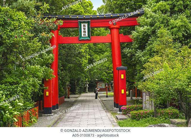 Kumano Kodo pilgrimage route. Kumano Hatayama Taisha. Grand Shrine located at the mouth of the Kumano-gawa river. Shingu. Wakayama Prefecture