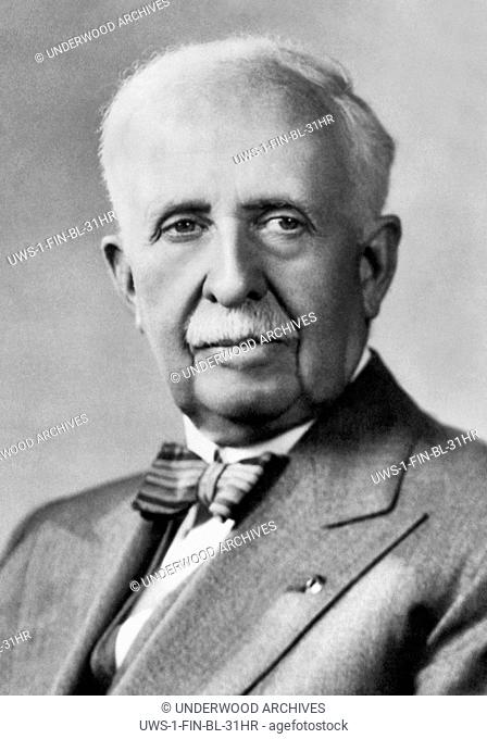Columbia, Missouri: June 5, 1952 A portrait of James Cash Penney, founder of the J.C. Penney department store chain, who has recently donated his prized herd of...