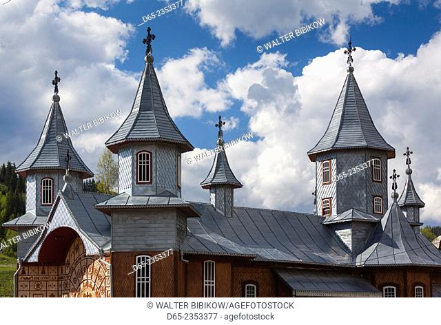 Romania, Bucovina Region, Rodna Mountains National Park, Sesuri, ski resort town, town Orthodox church