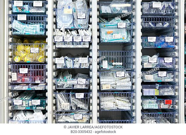 Pharmacy, Medical products, Delivery rooms, Hospital Donostia, San Sebastian, Gipuzkoa, Basque Country, Spain